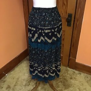 Vintage 90s artistic colorful gypsy skirt